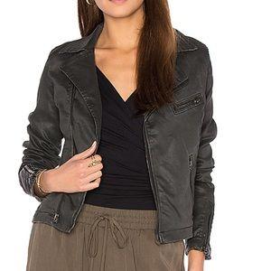 AG Biker Jacket in Vintage Leatherette Black M